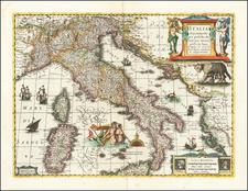 Italia Nuovamente piu perfetta che mai per inanzi posta in luce, scolpita et con le suoi figure uiuamente rappresetnate By Jan Jansson