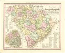 South Carolina Map By Henry Schenk Tanner