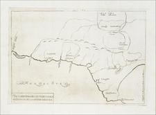 Mexico Map By Antonio de Herrera y Tordesillas
