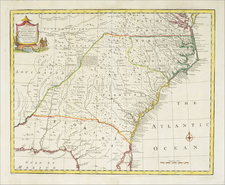 A New & Accurate Map of The Provinces of North & South Carolina, Georgia, &c.  Drawn from the lastest Surveys and regulated by Astronomical Observations By Emanuel Bowen