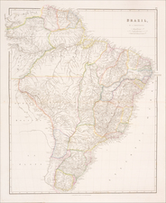 Brazil Map By John Arrowsmith