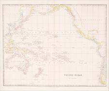Australia & Oceania, Pacific, Australia, Oceania, New Zealand, Hawaii and Other Pacific Islands Map By John Arrowsmith