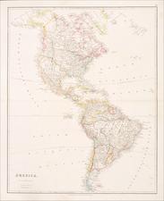 Texas and America Map By John Arrowsmith