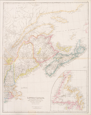 New England, Maine and Canada Map By John Arrowsmith