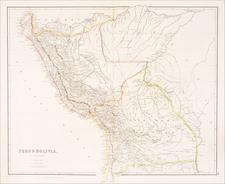 Paraguay & Bolivia and Peru & Ecuador Map By John Arrowsmith