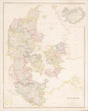 Iceland and Denmark Map By John Arrowsmith
