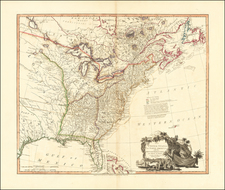 United States, South, Tennessee, Southeast and North Carolina Map By William Faden