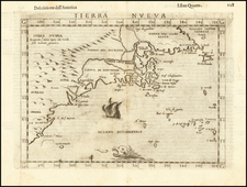 New England, Mid-Atlantic, Southeast and Eastern Canada Map By Girolamo Ruscelli