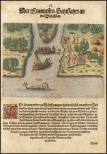 [St. Johns River - Florida] Der Franßosen Schiffahrt an den Fluß Maij By Theodor De Bry