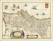 Portugal Map By Johannes et Cornelis Blaeu