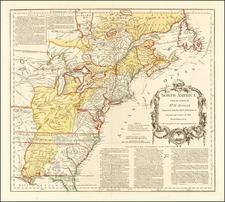 United States Map By Thomas Jefferys