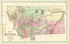 Montana Map By Arthur W. Ide