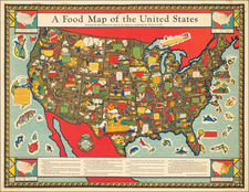 United States and Pictorial Maps Map By Louis Delton Fancher