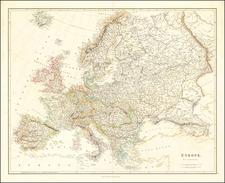 Europe Map By John Arrowsmith