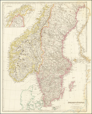 Scandinavia, Sweden and Norway Map By John Arrowsmith