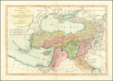 Balkans, Turkey, Central Asia & Caucasus and Turkey & Asia Minor Map By Samuel Dunn