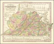 Virginia Map By Henry Schenk Tanner