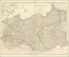 Poland and Baltic Countries Map By John Arrowsmith
