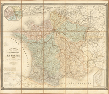 France Map By Eugène Andriveau-Goujon