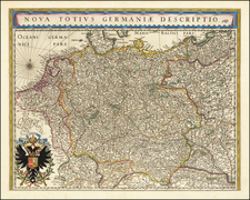 Netherlands, Germany and Poland Map By Willem Janszoon Blaeu