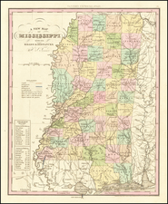 Mississippi Map By Henry Schenk Tanner