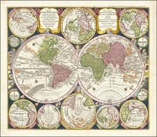 World and California as an Island Map By Matthaus Seutter
