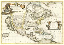 America Settentrionale Colle Nuove Scoperte Sin All'Anno 1688  By Vincenzo Maria Coronelli