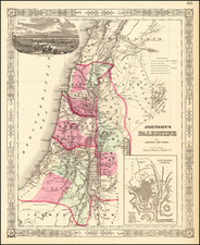 Holy Land Map By Alvin Jewett Johnson