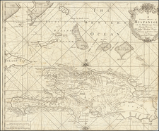 Caribbean, Hispaniola and Bahamas Map By Charles Price