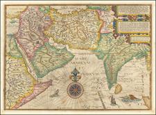 Indian Ocean, India, Central Asia & Caucasus, Middle East and Arabian Peninsula Map By Jan Huygen Van Linschoten