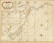 Pacific Ocean, South America, Australia & Oceania, Pacific, New Zealand and California as an Island Map By Hendrick Doncker