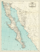 Mexico and Baja California Map By Edward H. Knight