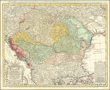 Poland, Ukraine, Hungary, Balkans and Turkey Map By Homann Heirs / Johann Matthaus Haas
