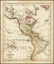 America Map By Johann Walch