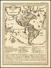 America Map By Joseph Francois Lafitau