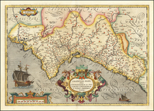 Spain Map By Abraham Ortelius