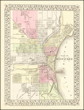 Wisconsin Map By Samuel Augustus Mitchell Jr.