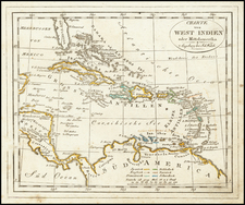 Caribbean Map By Johann Walch