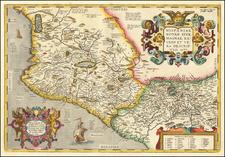Hispaniae Novae Sivae Magnae Recens Et Vera Descriptio 1579 By Abraham Ortelius