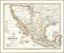 Texas, Southwest, Rocky Mountains, Mexico and California Map By Joseph Meyer / Carl Radefeld