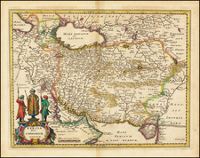 Middle East and Persia Map By Matthaus Merian