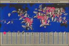 World Map of the Major Tropical Diseases By Boris Artsybasheff
