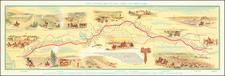 Kansas, Nebraska, Utah, Nevada, Utah, Wyoming, Pictorial Maps and California Map By William Henry Jackson