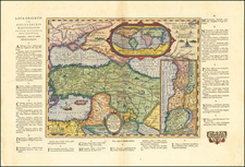 World and Turkey & Asia Minor Map By Abraham Ortelius