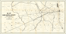 Illinois, Wisconsin and Iowa Map By Racine, Janesville & Mississippi Railroad
