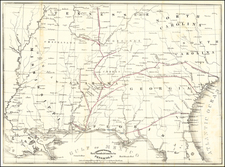 Florida, Alabama, Tennessee and Georgia Map By Alabama and Florida Railroad Company