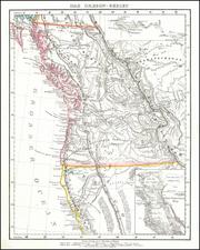 Idaho, Montana, Oregon, Washington and California Map By Carl Flemming