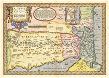 Aegyptus Antiqua Terra suis contenta bonnis non indiga mercis Aut Iois, in solo tanta est fidcuia Nilo . . . By Abraham Ortelius