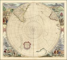 Polus Antarcticus Joannes Janssonius excudit. By Jan Jansson