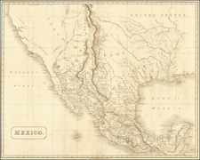 Texas, Southwest, Rocky Mountains, Mexico and California Map By Henry Colburn